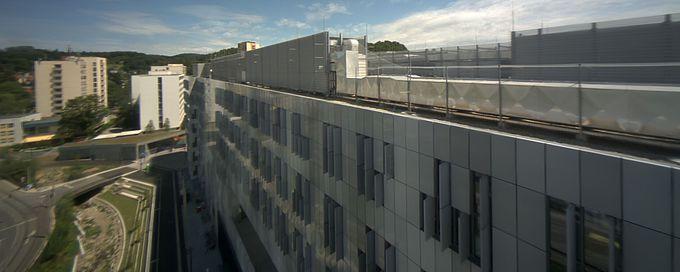 Livebild Webcam 'Gesamtpanorama Nordseite' Baustelle Neubau 'Zentrum für Wissens- und Technologietransfer in der Medizin GmbH' Graz (Standbild)